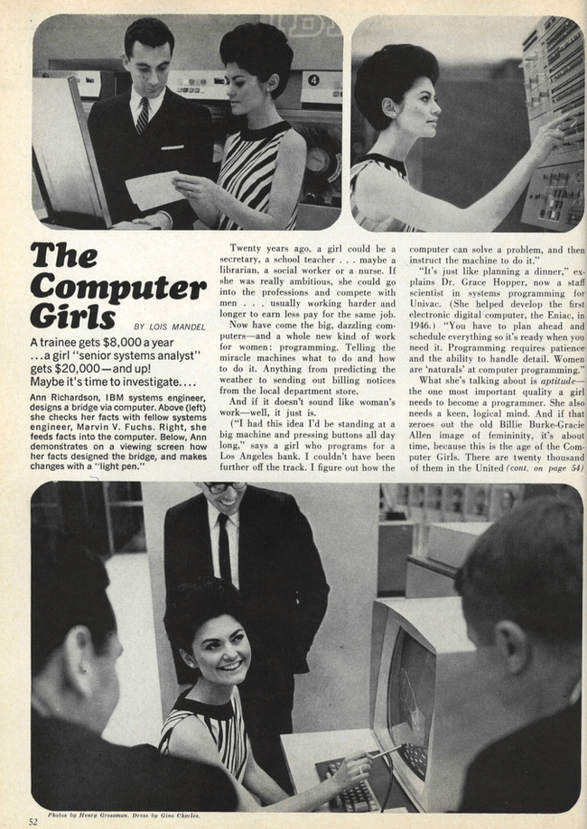 The Computer Girls, Cosmopolitan, April 1967