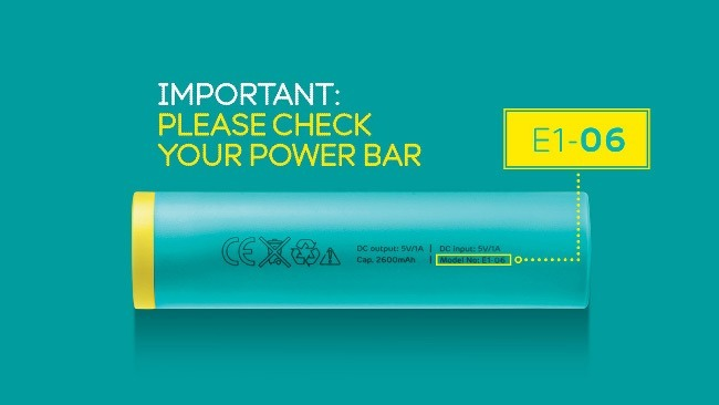 EE Power Bar recall