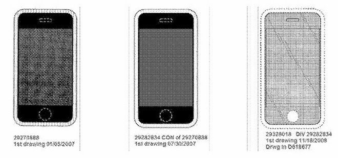 iPhone design patents / Apple v Samsung
