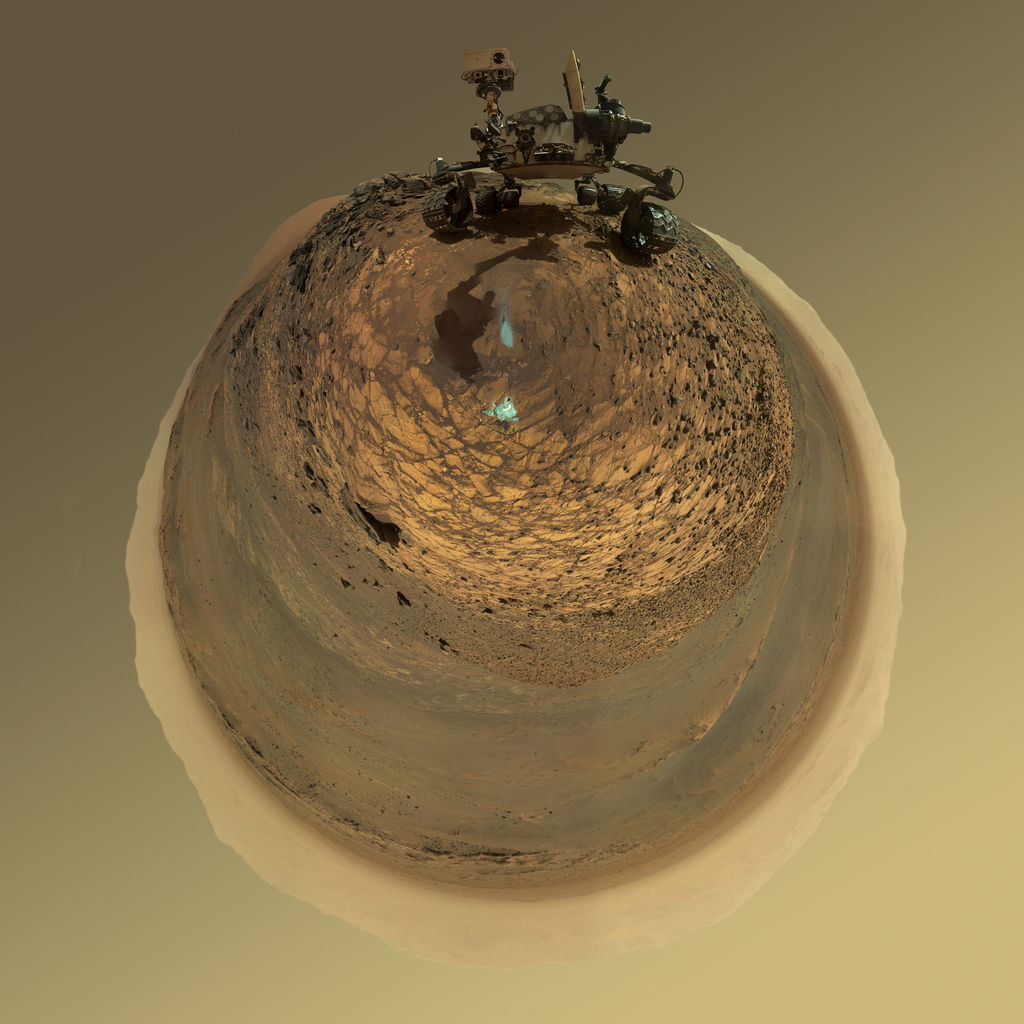 Mars Curiosity Rover Martian Selfie