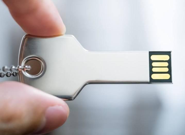 Dropbox: USB device shaped like a key