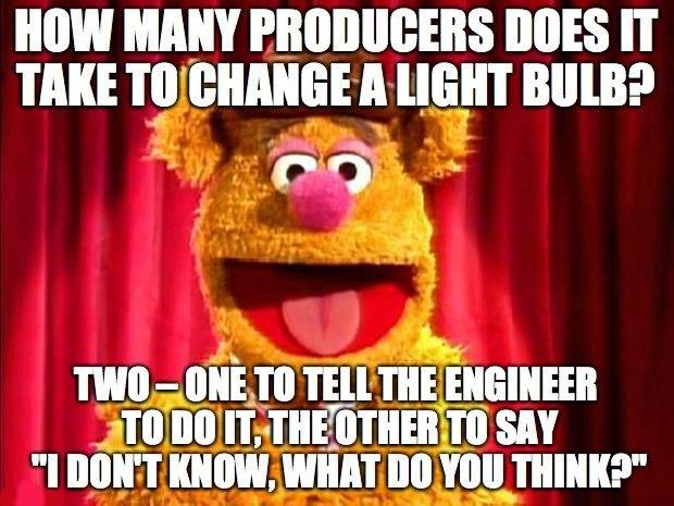 Sound engineer memes lightbulb