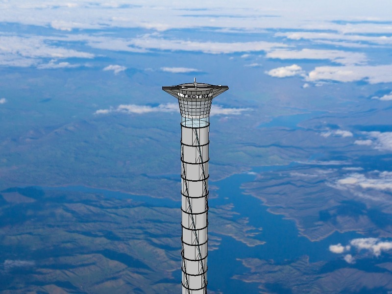 Space elevator that's 20km high just got awarded a patent