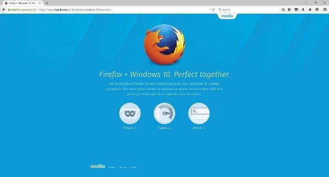 Firefox 40 on Windows 10