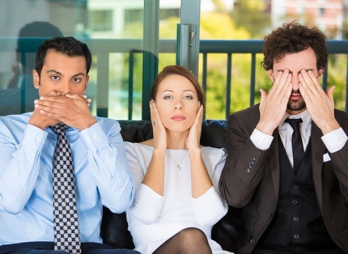 How to avoid people: speak no evil, hear no evil, see no evil