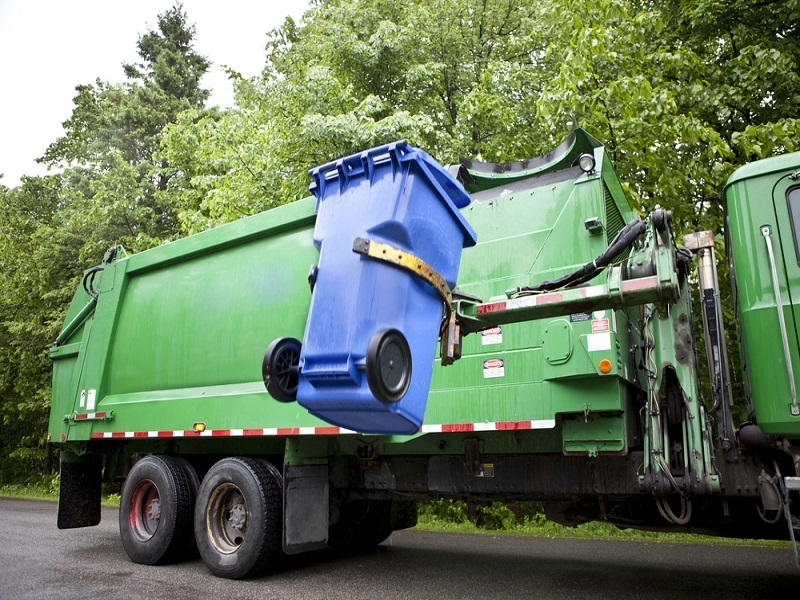 Who can take your trash out? Why, the Volvo robot garbage man can
