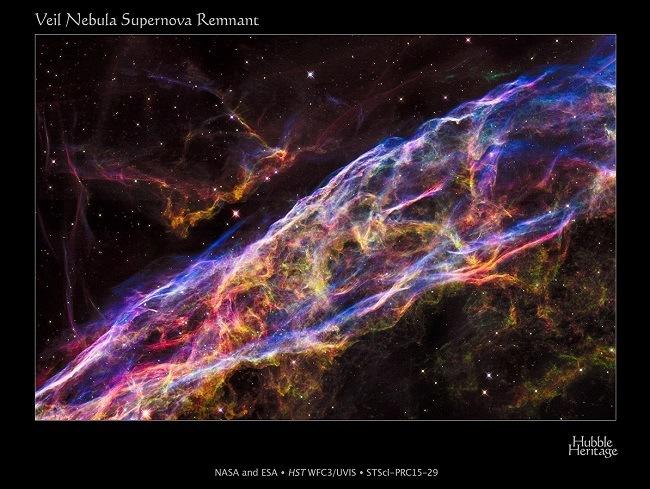 Hubble shrapnel image