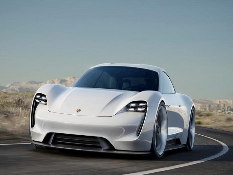Porsche reveals the Mission E, a futuristic Tesla competitor