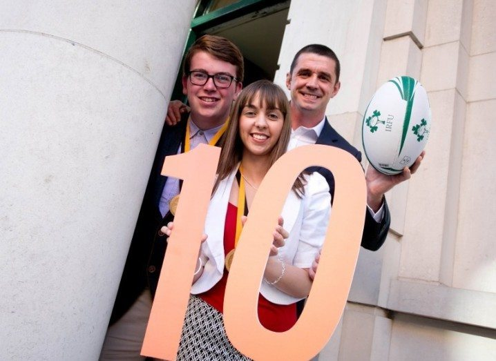 Alan Quinlan, Michael Keohane and Dayna Ni Siochain at launch of 10th annual Pramerica Spirit of Community Awards