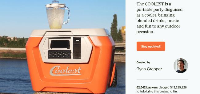 Top Kickstarter Campaigns Coolest Cooler