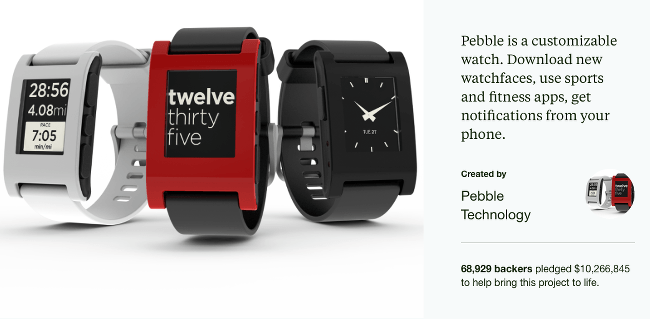 Top Kickstarter Campaigns Pebble Time