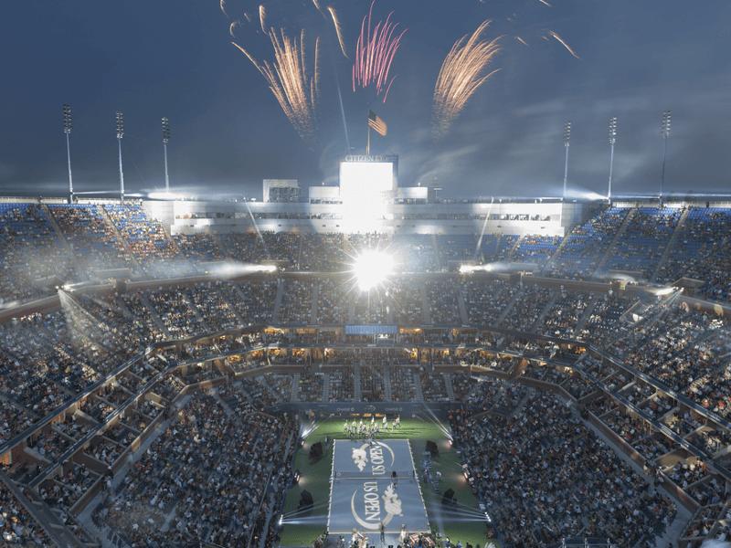 Drone crash interrupts US Open tennis match (video)