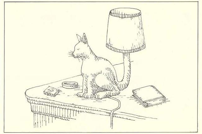 Dead cat lamp