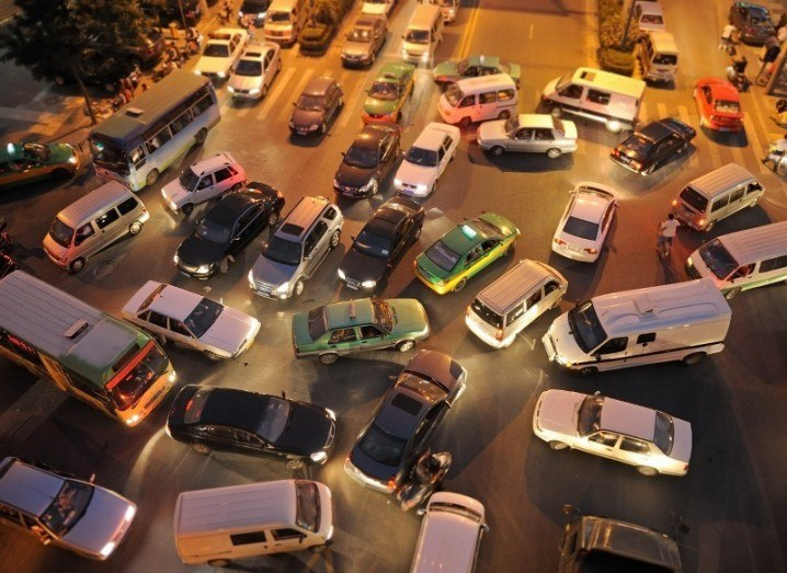 Hacking cars: traffic jam