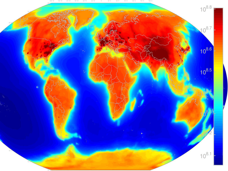 A radioactive map of our beautiful blue planet