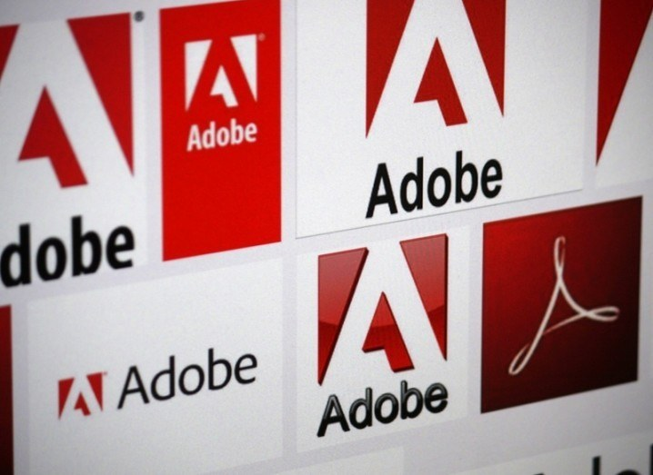 Wall of Adobe logos
