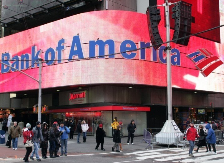 Bank of America billboard on Broadway, New York