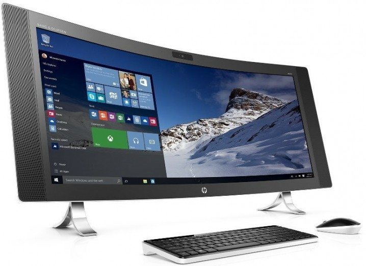 HP Envy All-in-one curved