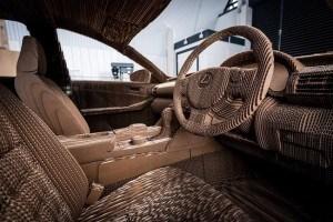 Cardboard car interior