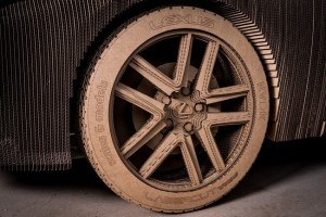 Cardboard car wheel