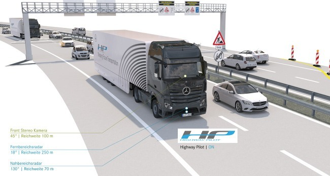 Daimler automated truck