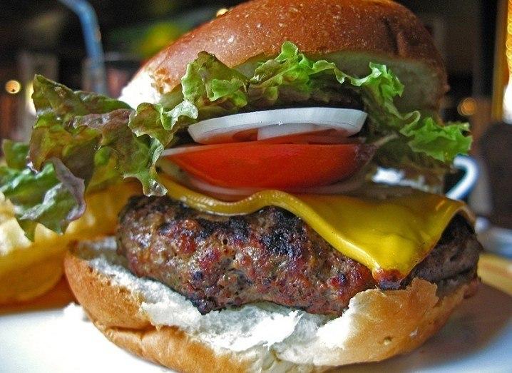 Lab-grown meat burger