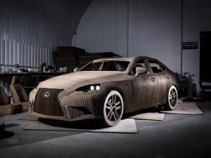 Lexus' cardboard car