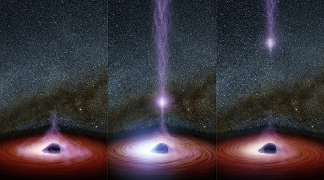 Black hole eruption