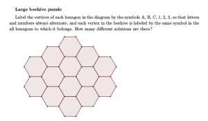 Maths Week Challenge 4 - beehive