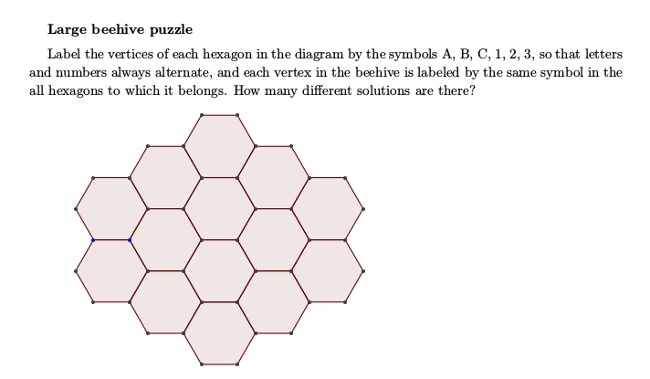 Maths Week Challenge 4 - beehive