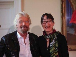 Richard Branson and Ann O'Dea