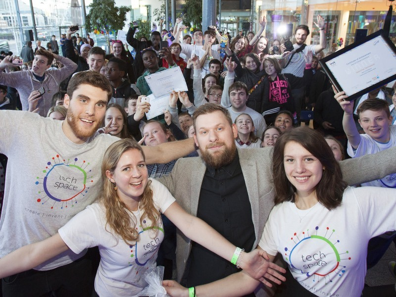 150 students celebrate TechSpace with a bang
