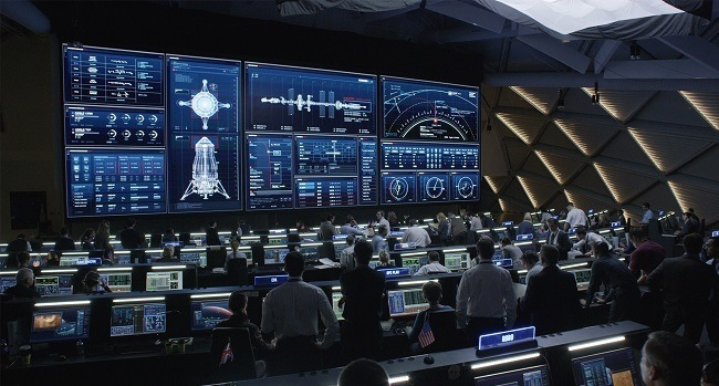 The NASA command centre. Image via 20th Century Fox