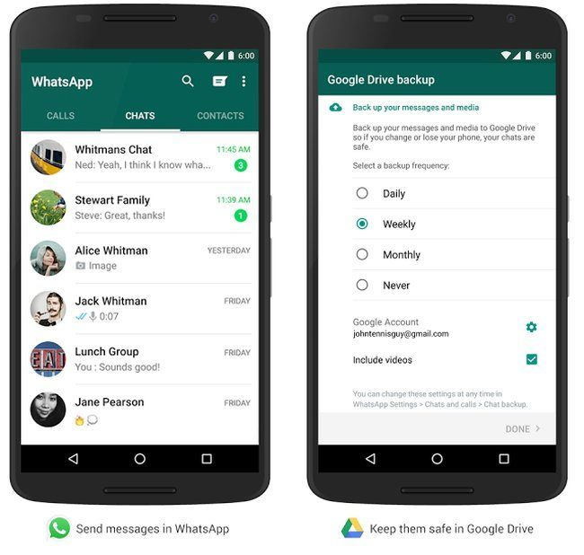 WhatsApp Google Drive