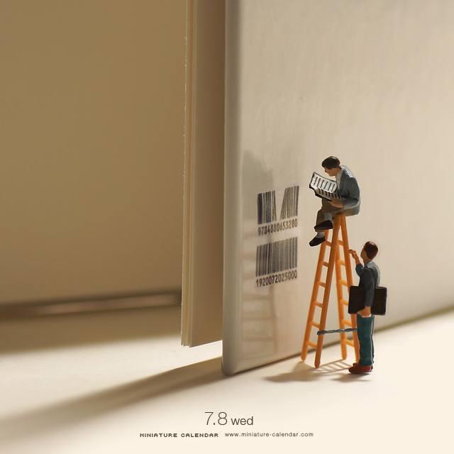 Bookshelf, Miniature Calendar