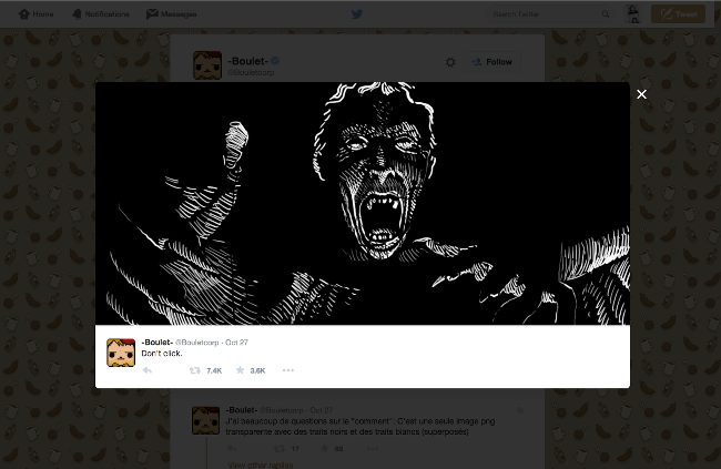 Boulet's tweet when you click