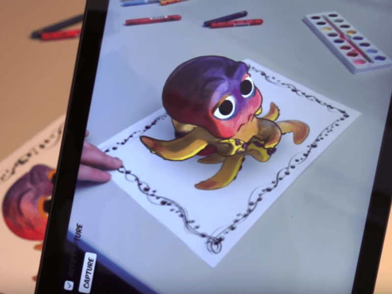 Disney invents the 3D colouring book (video)