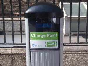 Irish EV owners charging point