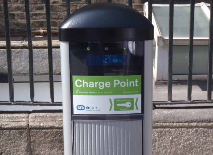 Irish EV owners charging point
