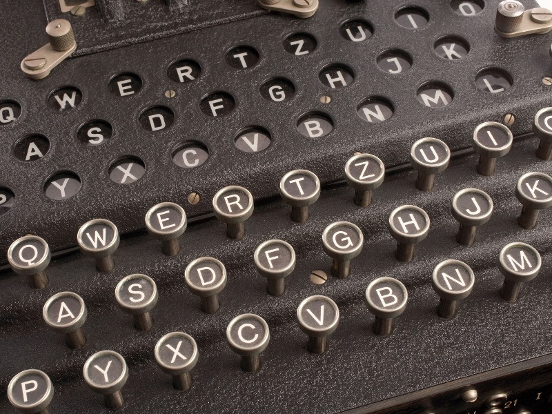 An original WWII Enigma machine, in all its glory, in Letterkenny