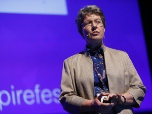 Dame Jocelyn Bell Burnell speaking at Inspirefest 2015. Image via Conor McCabe Photography