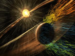 Solar winds Mars