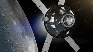 Orion spacecraft moon