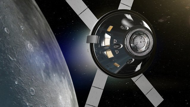 Orion spacecraft moon