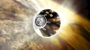 Orion spacecraft re-entry