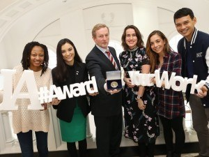 An Taoiseach Enda Kenny pictured with some of the winners of the Undergraduate Awards