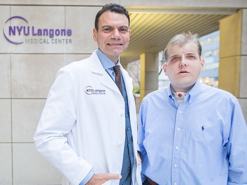 "Firefighter receives world's ""most extensive"" face transplant"