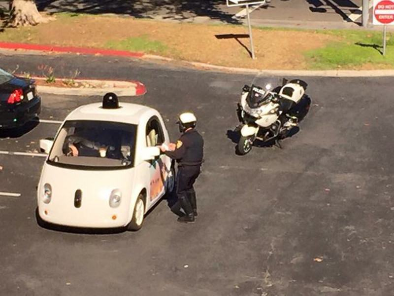 Google car stopped by cops for going too slow