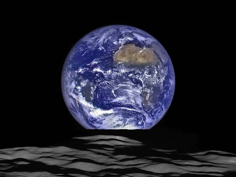 Earth moon rise NASA