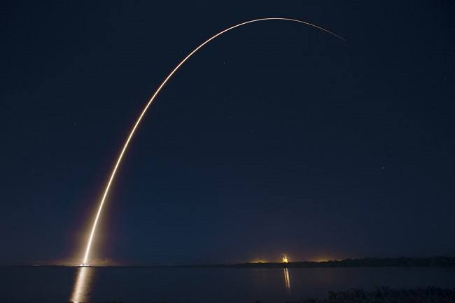 The launch of ABS/EUTELSAT-1 back in March. Image via SpaceX